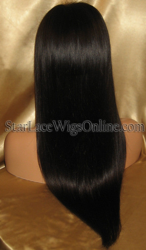 Long Straight Indian Virgin Full Lace Wigs For Women