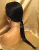 Long Straight Virgin Hair Custom Lace Front Wigs
