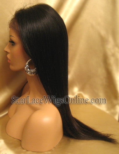 Long Straight Human Virgin Hair Cheap Wigs