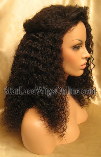 Curly Indian Remy Full Lace Wigs For Women