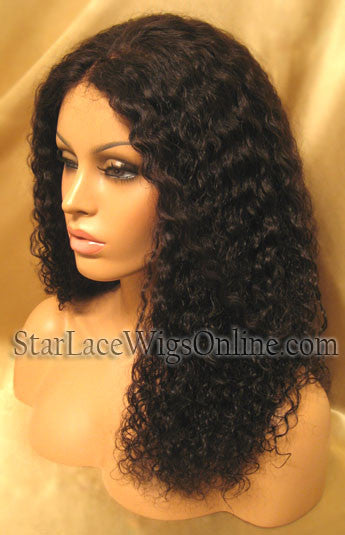 African American Wigs Curly Remy Hair Lace Wig