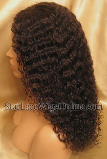 Curly Custom Human Hair Lace Front Wigs For Women