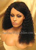 Curly Custom Human Hair Lace Front Wigs For Cheap Near DC