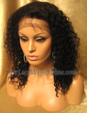Kinky Curly Human Hair Custom Lace Front Wigs For Black Women