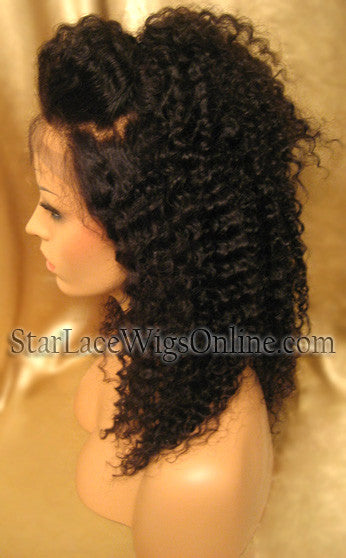 Kinky Curl Lace Front Wigs DC