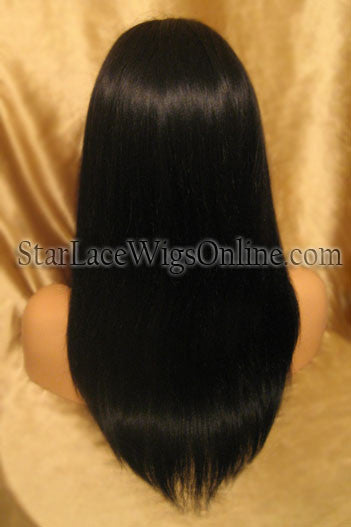 Light Yaki Indian Remy Lace Front African American Wigs