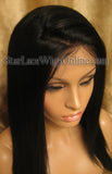 Light Yaki Straight Human Hair Custom Full Lace Wigs
