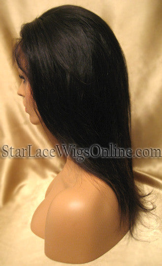 Custom Straight Virgin Hair Full Lace Wigs For Women