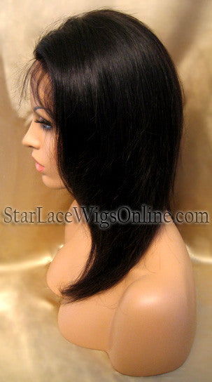 Custom Straight Virgin Hair Full Lace Wigs For Black Women