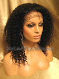 Kinky Curly Indian Remy Full Lace Wigs For Black Women