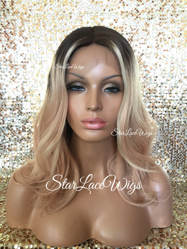 Blonde Human Hair Lace Front Wigs For Women