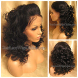Long Curly Human Hair Custom Lace Front Wig