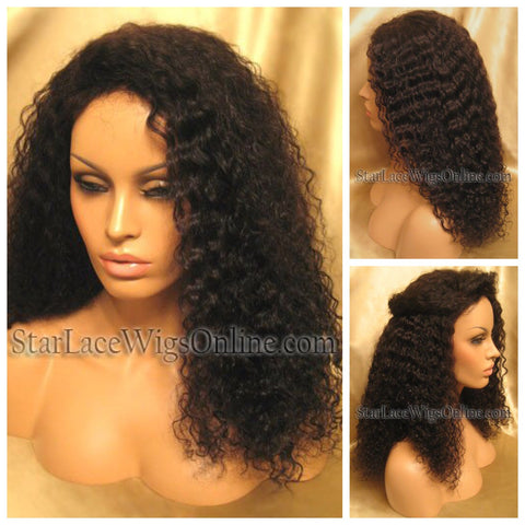 Yaki Straight Human Hair Full Lace Wig - Custom - Nina
