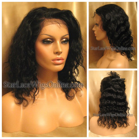 Yaki Straight Human Hair Full Lace Wig - Custom - Brandy
