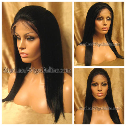 Deep Wave Indian Remy Full Lace Wig - Stock - Tina