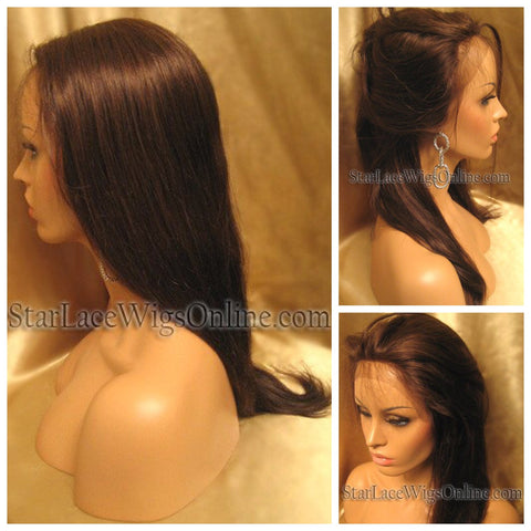 Straight Chinese Virgin Hair Lace Front Wig - Custom - Tyra
