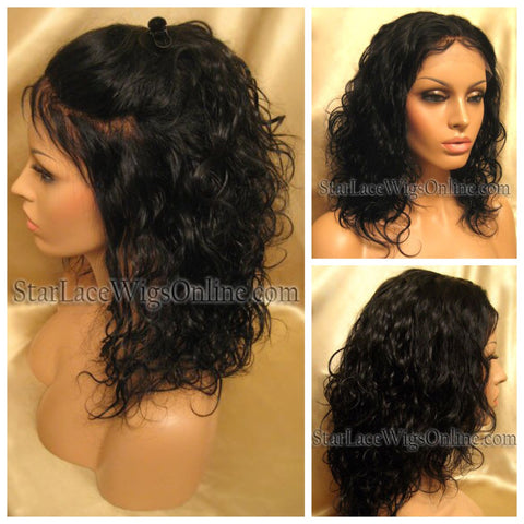 Yaki Straight Indian Remy Lace Front Wig - Stock - Brandy
