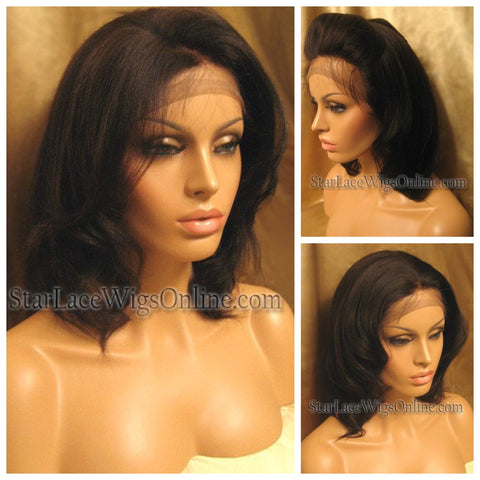 Curly Indian Remy Lace Front Wig - Stock - Bianca