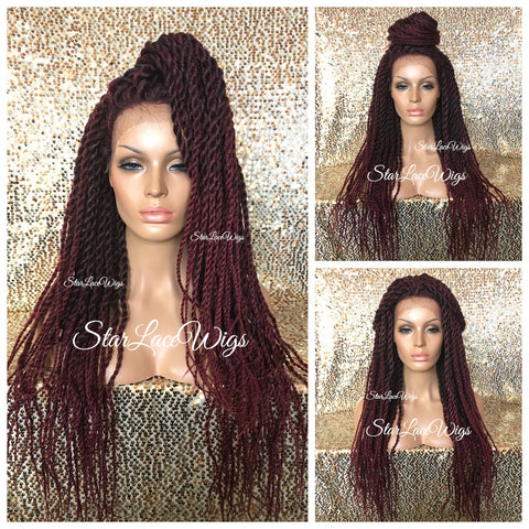 Long Senegalese Twist Locks Lace Front Wig - Zuri