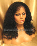 Custom Human Hair Curly Full Lace Wigs For Black Women