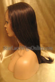 Long Silky Straight Human Hair Custom Full Lace Wig