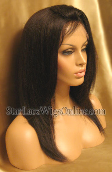 Long Straight Human Hair Full Lace Wig For Women
