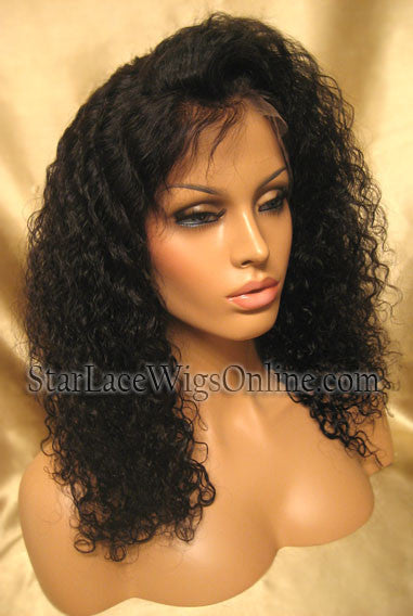 Curly Indian Remy Human Hair Wigs For Black Women