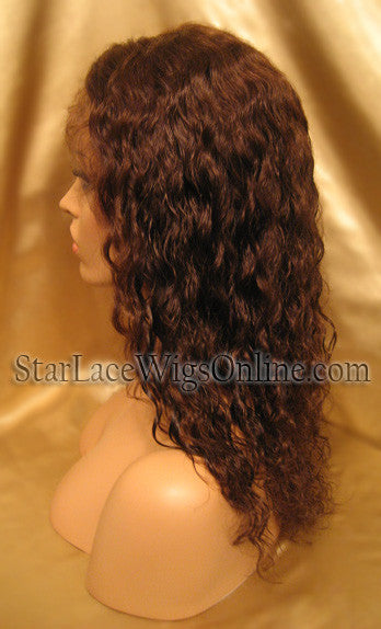 Wavy Human Hair Full Lace Wigs For Women DC