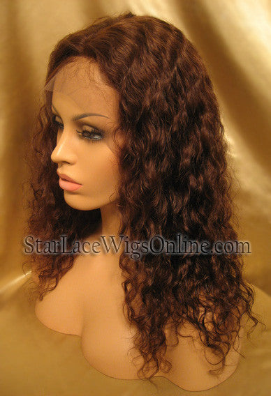Long Wavy Custom Human Hair Lace Front Wigs For Women