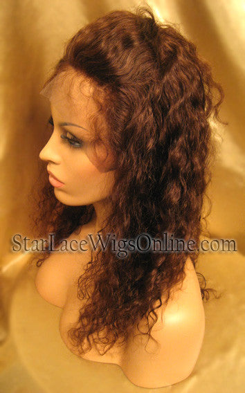 Wavy Custom Human Hair Lace Front Wigs For White Women