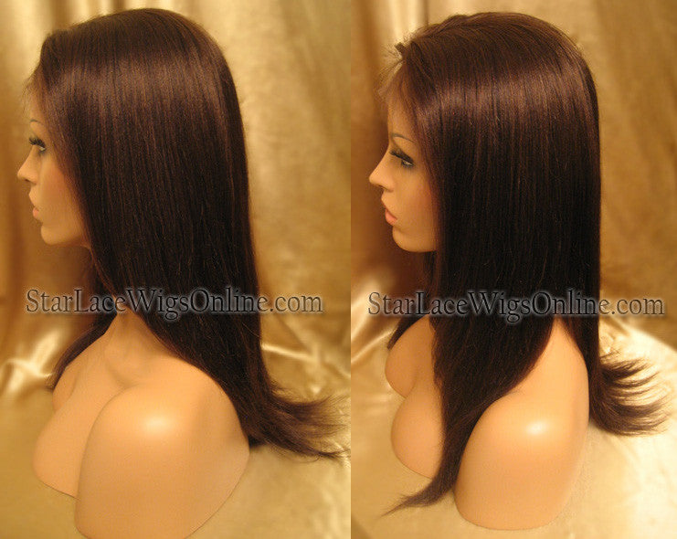 Yaki Straight Custom Human Hair Full Lace Wig