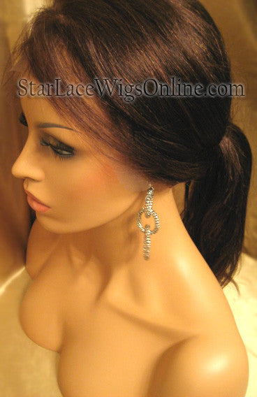 Yaki Straight Custom Human Hair Full Lace Wigs For Women DC
