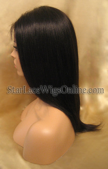 Long Straight Indian Remy Full Lace Human Hair Wigs For Cheap DC