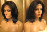 Short Yaki Straight Human Hair Full Lace Wigs For Black Women