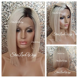 Celebrity Inspired Lace Front Blonde Beyonce Bob Dark Roots