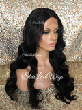 Lace Front Wig Human Hair Blend Long Body Wave - Amelia