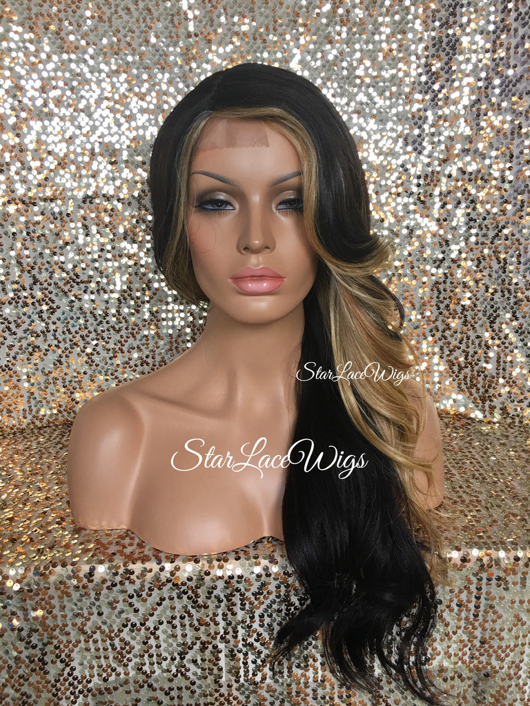 Long Brown & Blonde Wavy Wig
