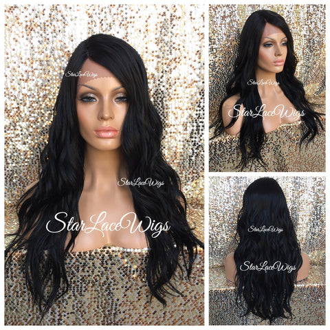 Lace Front Wig Blonde Wavy Mixed Dark Roots Middle Part - Chance