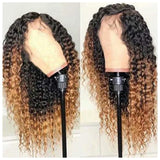 Human Hair Lace Front Wig 13x4 Wavy Color #1b & #30 - Jenna