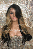 Long Honey Blonde & Brown Hairpiece