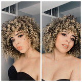 Synthetic Full Wig Curly Blonde Brown Mix - Brooklyn