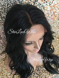 Lace Front Wig Human Hair Blend Long Wavy - Elise