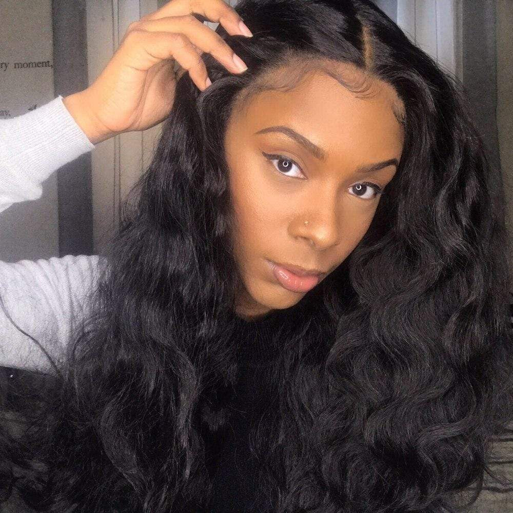 Human Hair Blend Body Wave Lace Front Wig (6x13) Parting Space Baby Hair Preplucked - Kalani