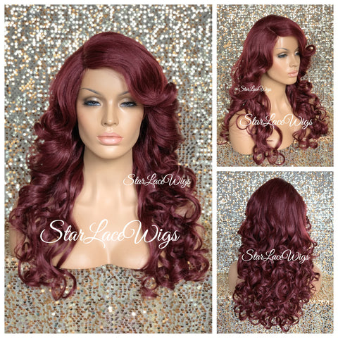 Long Wavy Gray Pink Wig With Chinese Bangs - Anna