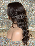 Long Brown Layered Synthetic Lace Front Wig Color #4 - Kim
