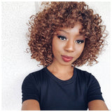 Synthetic Curly Short Bob Wig #30 Dark Roots - Jada