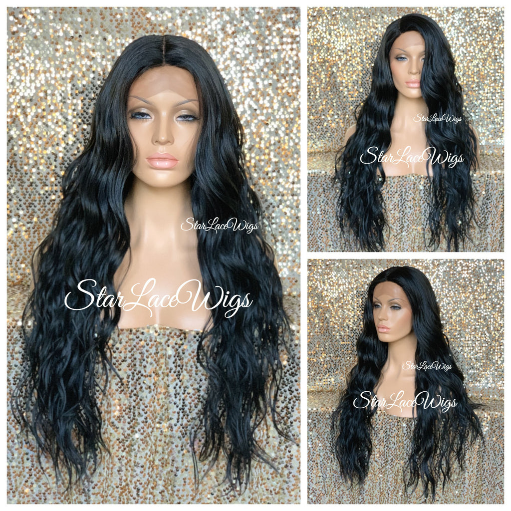 Lace Front Wig Synthetic Long Wavy Middle Part - Alexandria