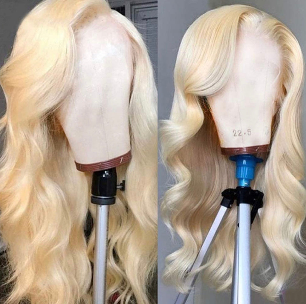 Human Hair Lace Front Wig 13x4 Body Wave Blonde #613 - Summer