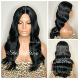 Lace Front Wig Long Synthetic Loose Waves Middle Part - Lyric