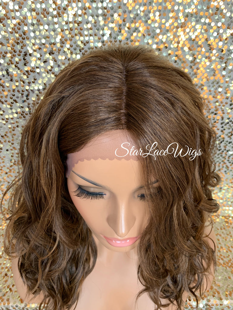 Lace Front Wig Synthetic 4/27/30 Mix Wavy Middle Part - Kelsey